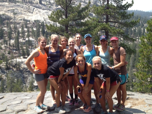 Altitude Project girls on top of Devils Postpile in Mammoth.